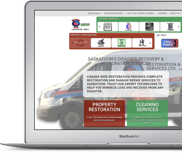 Clean Simple Website Design on Vancouver Island